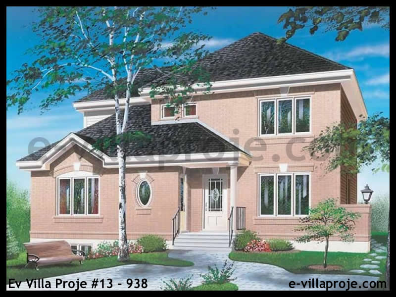 Ev Villa Proje #13 – 938, 2 katlı, 4 yatak odalı, 0 garajlı, 196 m2