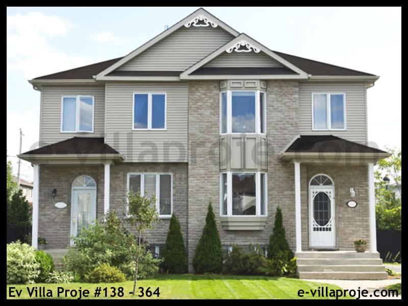 Ev Villa Proje #138 – 364, 2 katlı, 3 yatak odalı, 0 garajlı, 110 m2