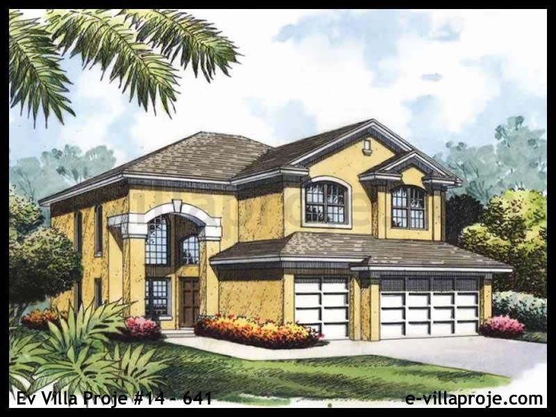 Ev Villa Proje #14 – 641, 2 katlı, 4 yatak odalı, 3 garajlı, 187 m2