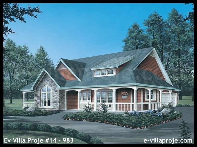 Ev Villa Proje #14 – 983, 1 katlı, 3 yatak odalı, 2 garajlı, 183 m2