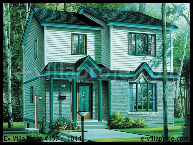 Ev Villa Proje #157 –  1044, 2 katlı, 3 yatak odalı, 0 garajlı, 120 m2
