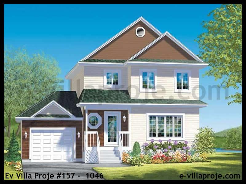 Ev Villa Proje #157 – 1046, 2 katlı, 3 yatak odalı, 1 garajlı, 135 m2