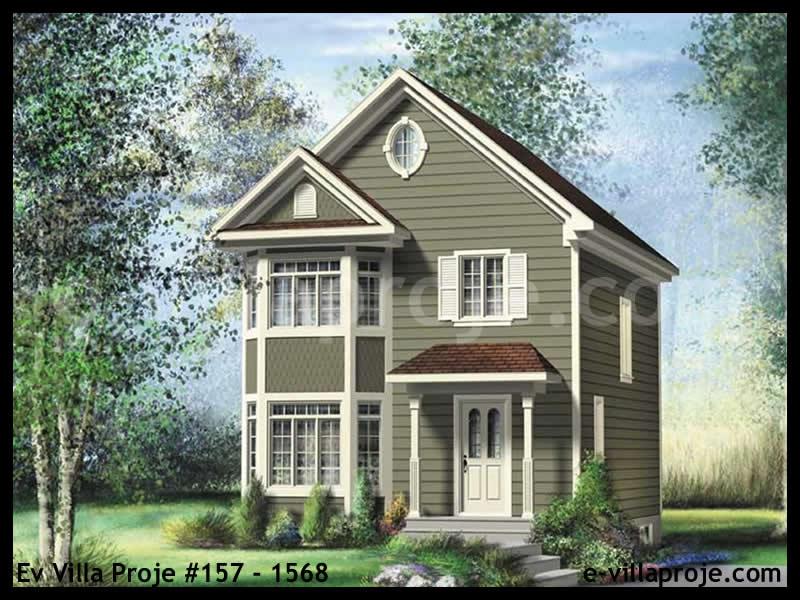 Ev Villa Proje #157 – 1568, 2 katlı, 1 yatak odalı, 3 garajlı, 122 m2