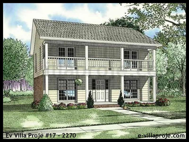 Ev Villa Proje #17 – 2270, 2 katlı, 2 yatak odalı, 1 garajlı, 91 m2