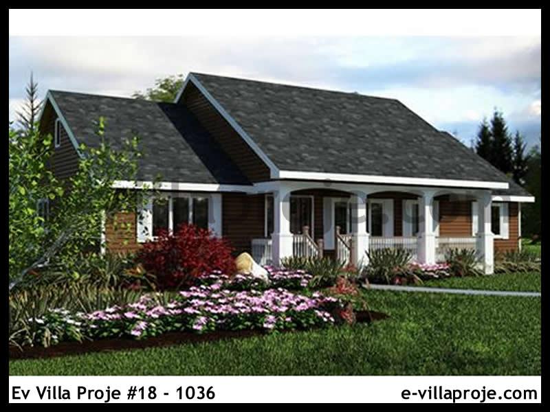 Ev Villa Proje #18 – 1036, 1 katlı, 3 yatak odalı, 1 garajlı, 128 m2