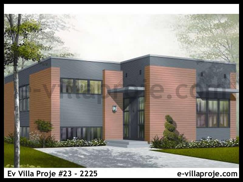 Ev Villa Proje #23 – 2225, 1 katlı, 2 yatak odalı, 1 garajlı, 124 m2