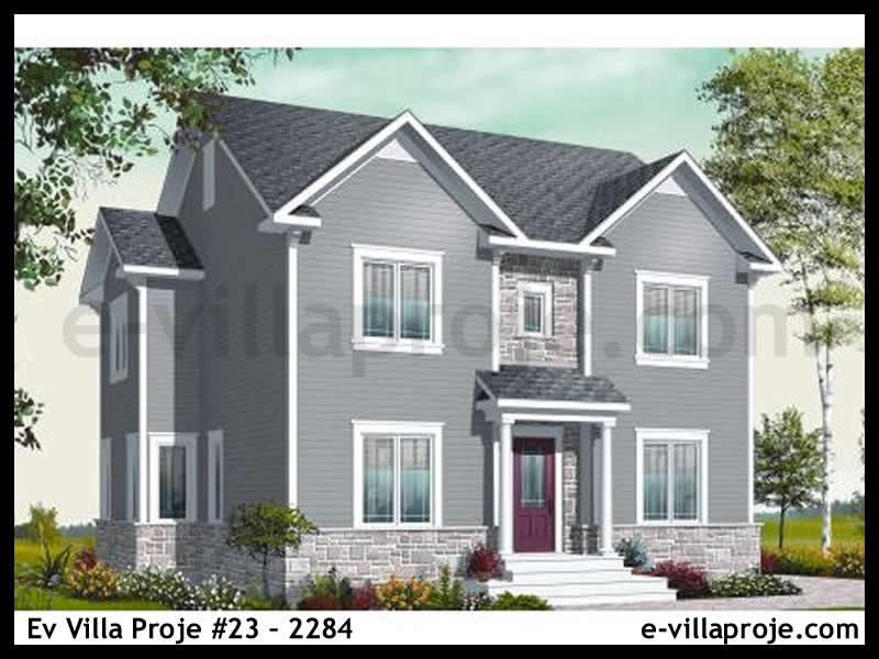 Ev Villa Proje #23 – 2284, 1 katlı, 4 yatak odalı, 1 garajlı, 195 m2