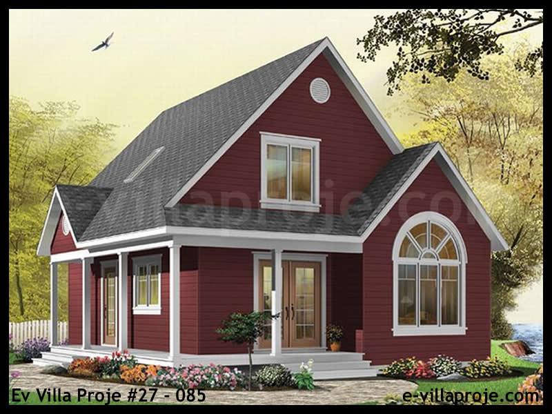 Ev Villa Proje #27 – 085, 2 katlı, 2 yatak odalı, 0 garajlı, 110 m2