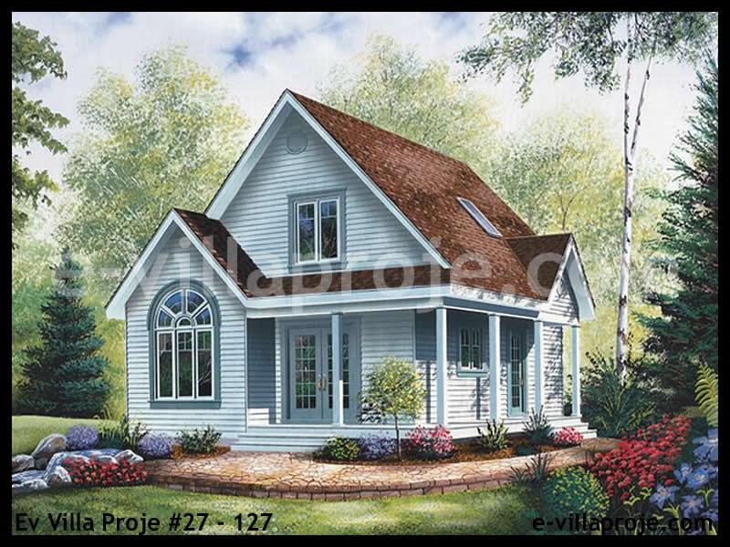 Ev Villa Proje #27 – 127, 2 katlı, 2 yatak odalı, 0 garajlı, 105 m2