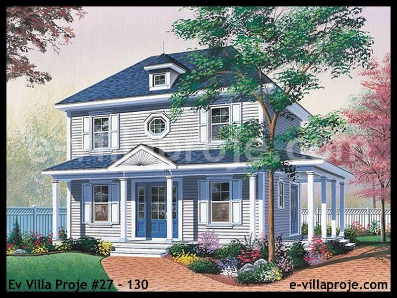 Ev Villa Proje #27 – 130, 2 katlı, 3 yatak odalı, 0 garajlı, 130 m2