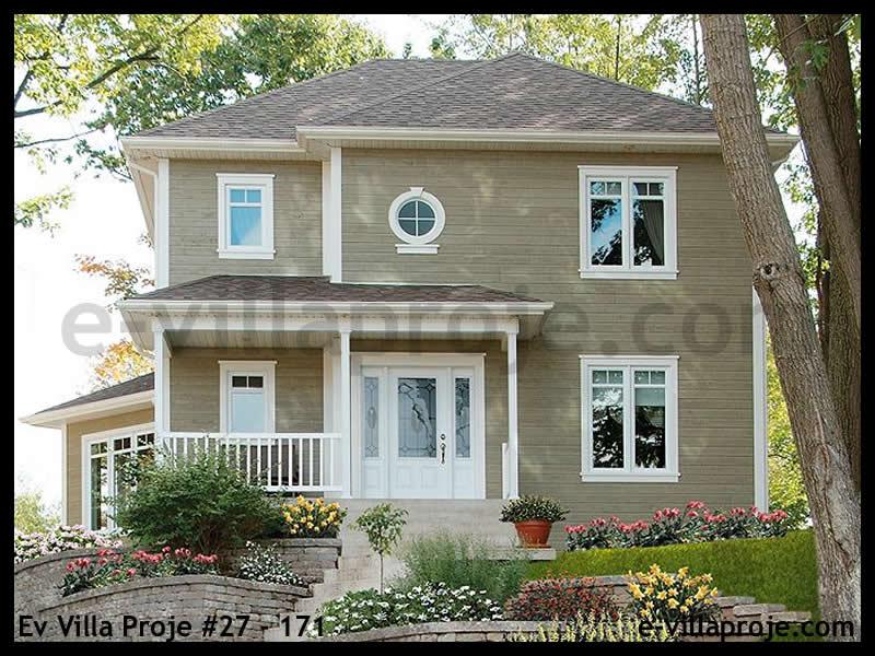 Ev Villa Proje #27 – 171, 2 katlı, 3 yatak odalı, 2 garajlı, 150 m2