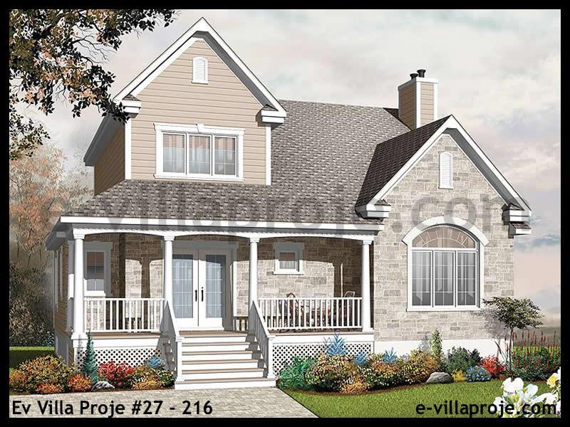 Ev Villa Proje #27 – 216, 2 katlı, 3 yatak odalı, 2 garajlı, 194 m2