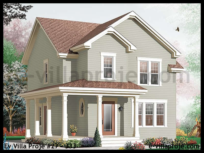 Ev Villa Proje #27 – 308, 2 katlı, 3 yatak odalı, 0 garajlı, 150 m2
