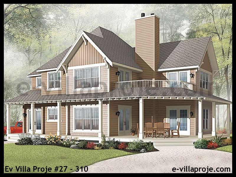Ev Villa Proje #27 – 310, 2 katlı, 3 yatak odalı, 2 garajlı, 210 m2