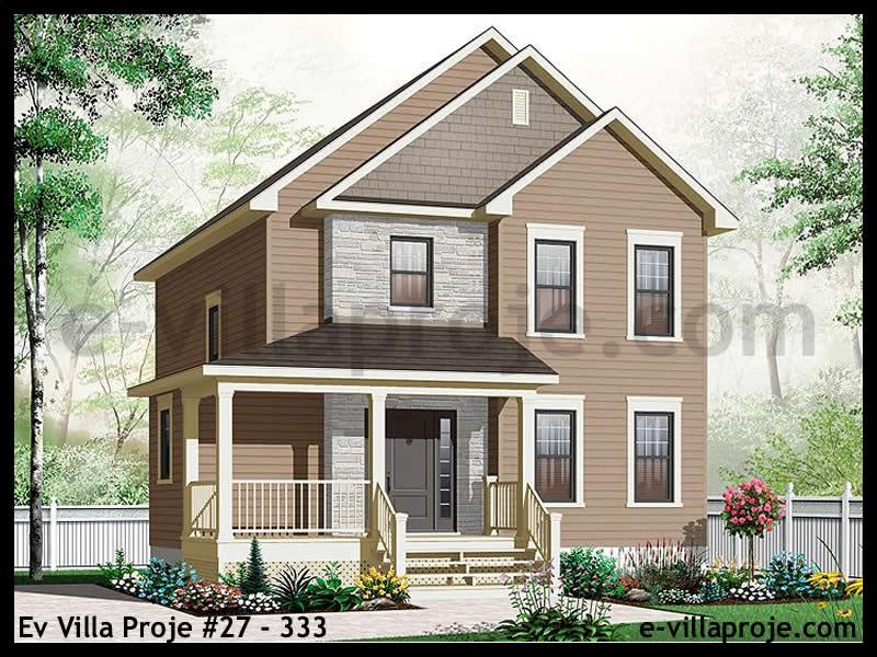 Ev Villa Proje #27 – 333, 2 katlı, 3 yatak odalı, 0 garajlı, 150 m2
