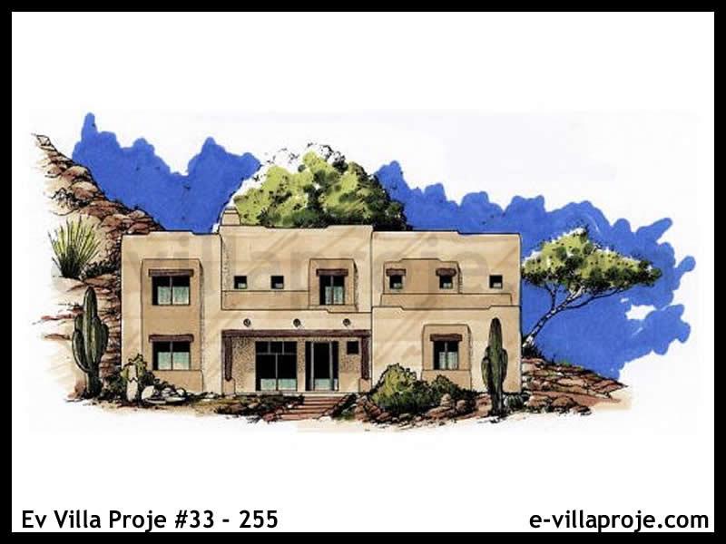 Ev Villa Proje  #33 – 255, 2 katlı, 4 yatak odalı, 3 garajlı, 309 m2