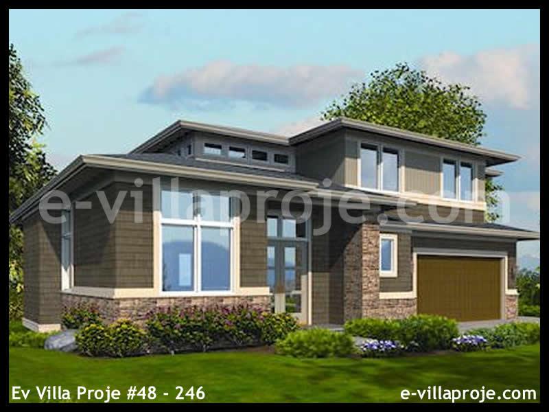 Ev Villa Proje #48 – 246, 3 katlı, 4 yatak odalı, 3 garajlı, 340 m2