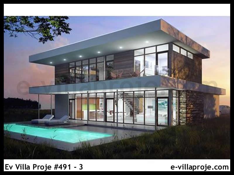 Ev Villa Proje #491 – 3, 2 katlı, 3 yatak odalı, 2 garajlı, 260 m2