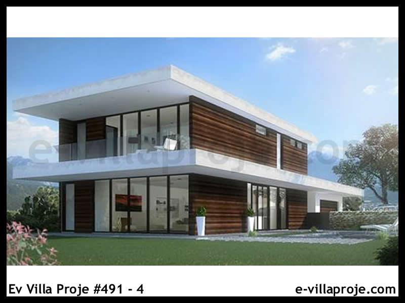 Ev Villa Proje #491 – 4, 2 katlı, 3 yatak odalı, 2 garajlı, 248 m2
