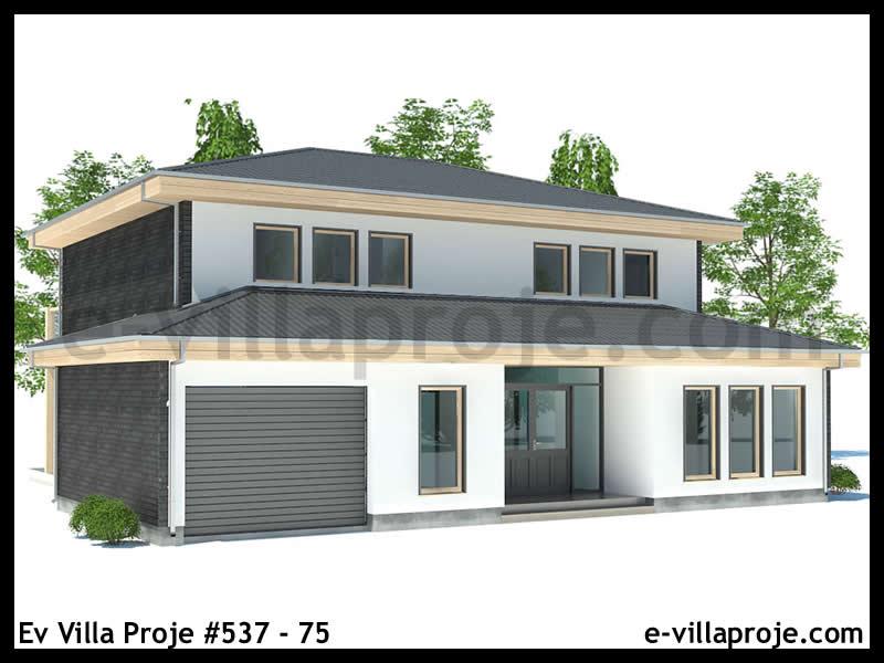 Ev Villa Proje #537 – 75, 2 katlı, 3 yatak odalı, 1 garajlı, 191 m2
