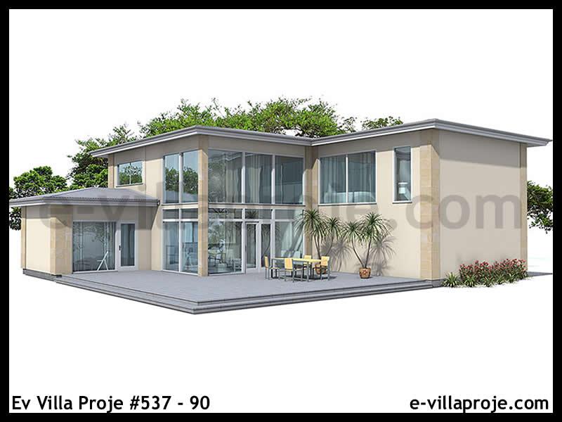 Ev Villa Proje #537 – 90, 2 katlı, 4 yatak odalı, 2 garajlı, 250 m2
