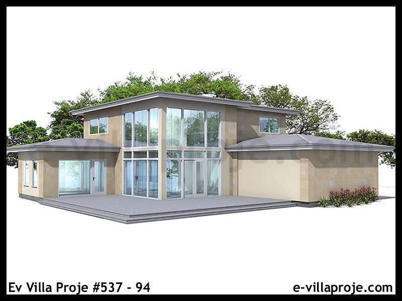Ev Villa Proje #537 – 94, 2 katlı, 3 yatak odalı, 2 garajlı, 218 m2