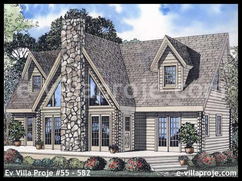 Ev Villa Proje #55 – 582, 2 katlı, 1 yatak odalı, 3 garajlı, 217 m2