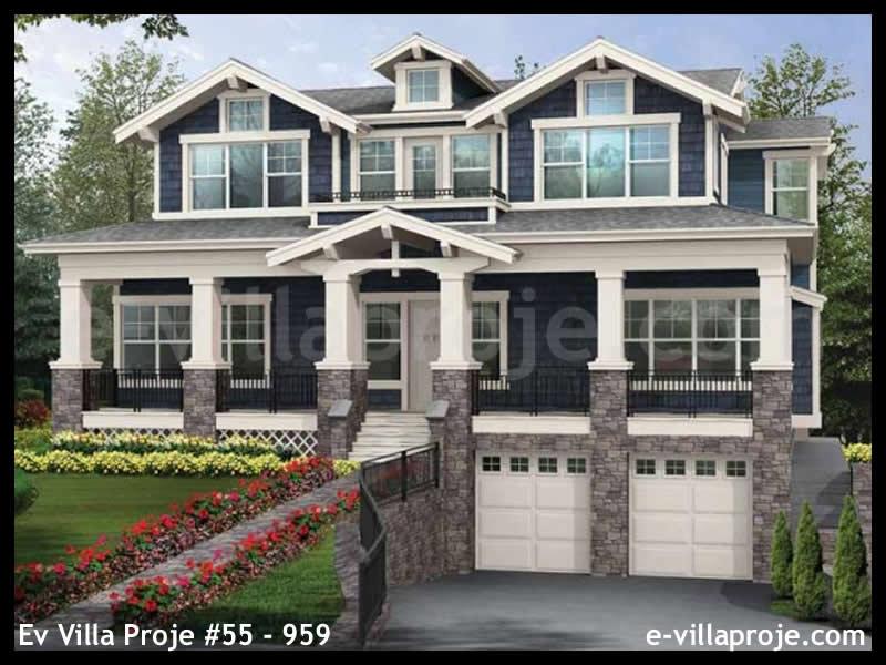 Ev Villa Proje #55 – 959, 3 katlı, 5 yatak odalı, 3 garajlı, 337 m2
