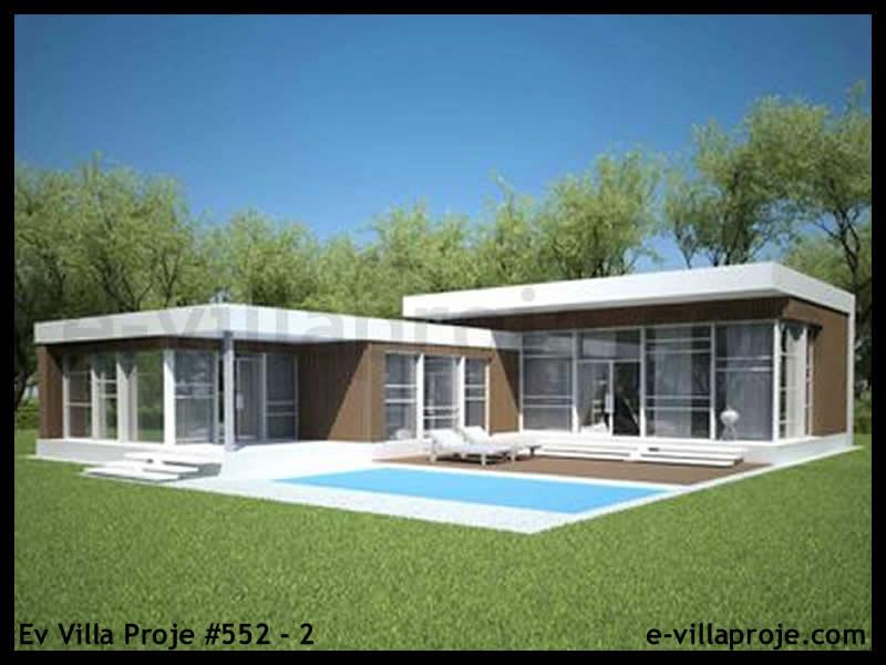 Ev Villa Proje #552 – 2, 1 katlı, 3 yatak odalı, 2 garajlı, 139 m2