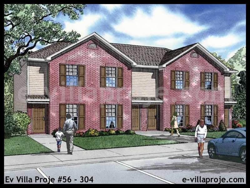 Ev Villa Proje #56 – 304, 2 katlı, 2 yatak odalı, 0 garajlı, 75 m2