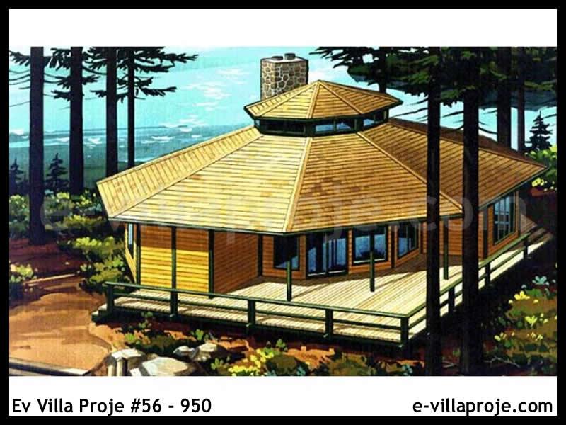 Ev Villa Proje #56 – 950, 1 katlı, 3 yatak odalı, 0 garajlı, 150 m2
