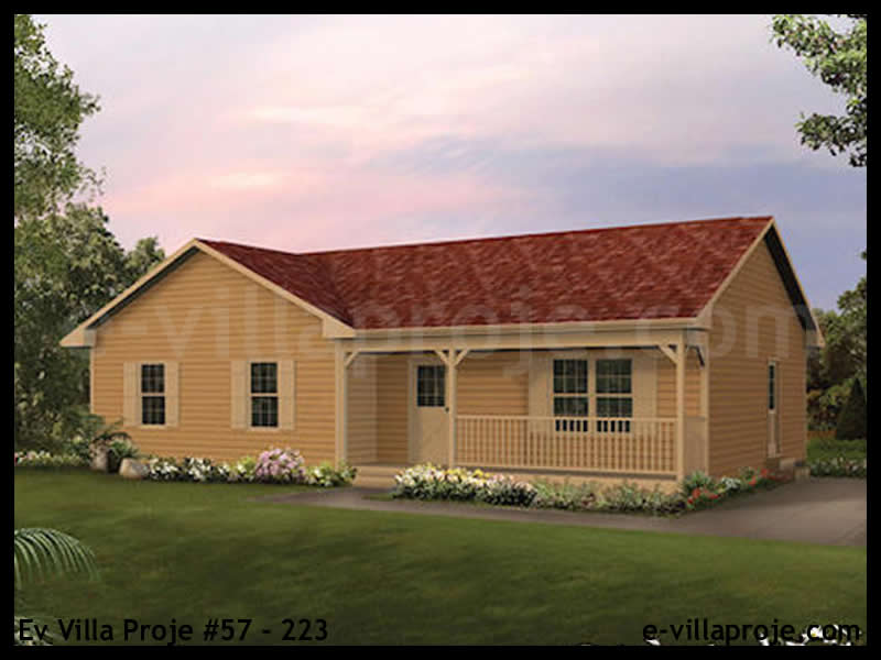 Ev Villa Proje #57 – 223, 1 katlı, 3 yatak odalı, 0 garajlı, 108 m2