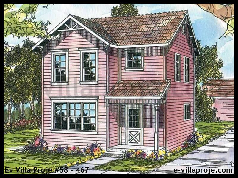 Ev Villa Proje #58 – 467, 2 katlı, 3 yatak odalı, 0 garajlı, 120 m2