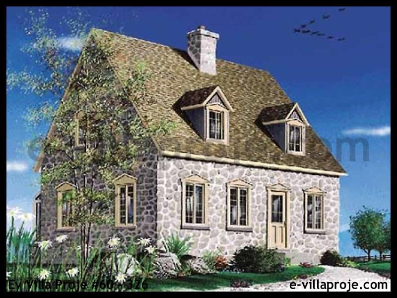 Ev Villa Proje #60 – 326, 2 katlı, 2 yatak odalı, 0 garajlı, 130 m2