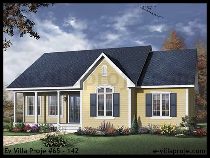 Ev Villa Proje #65 – 142, 1 katlı, 3 yatak odalı, 0 garajlı, 121 m2