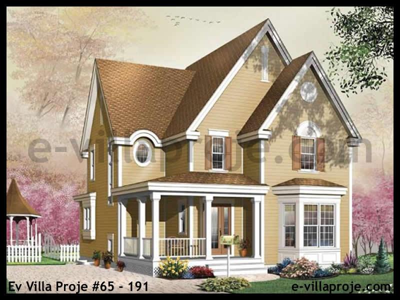 Ev Villa Proje #65 – 191, 2 katlı, 3 yatak odalı, 0 garajlı, 157 m2