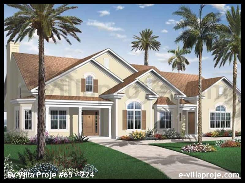 Ev Villa Proje #65 – 224, 2 katlı, 3 yatak odalı, 1 garajlı, 238 m2
