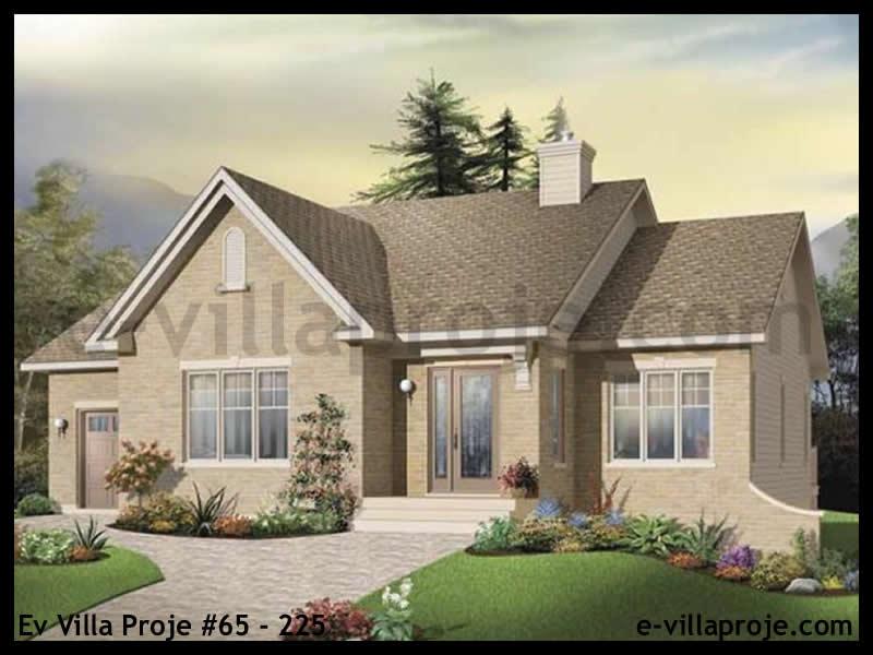 Ev Villa Proje #65 – 225, 1 katlı, 2 yatak odalı, 1 garajlı, 112 m2