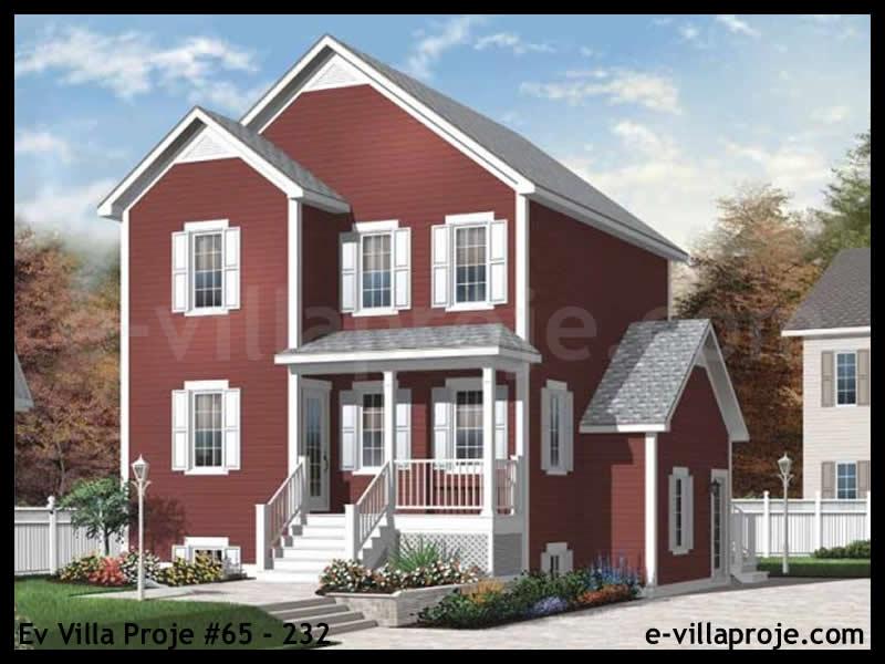 Ev Villa Proje #65 – 232, 2 katlı, 4 yatak odalı, 0 garajlı, 174 m2