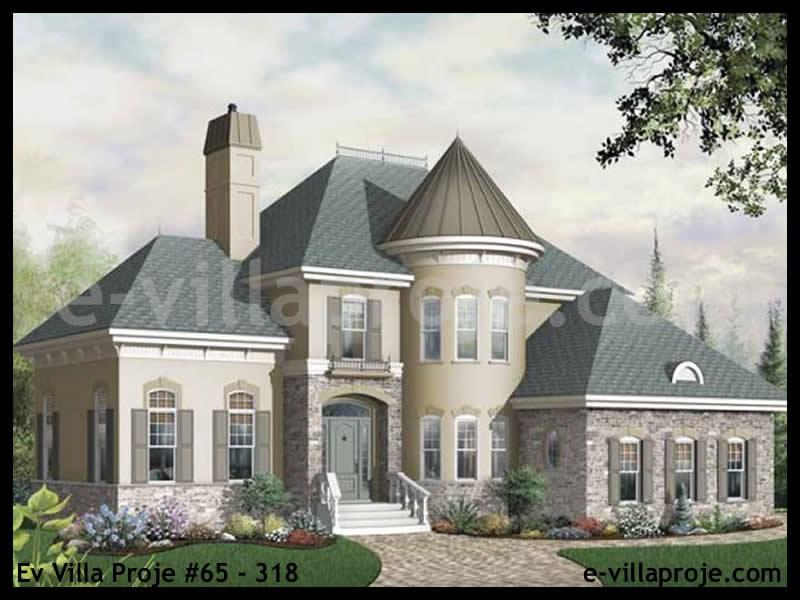 Ev Villa Proje #65 – 318, 2 katlı, 3 yatak odalı, 2 garajlı, 215 m2