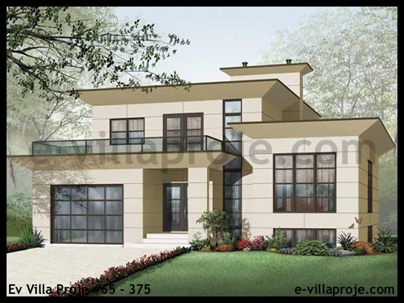 Ev Villa Proje #65 – 375, 2 katlı, 4 yatak odalı, 1 garajlı, 290 m2
