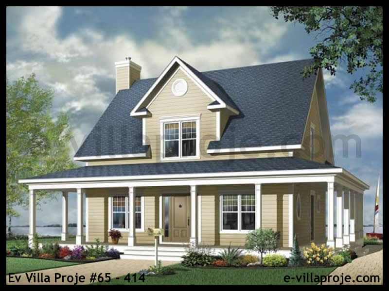 Ev Villa Proje #65 – 414, 2 katlı, 3 yatak odalı, 0 garajlı, 166 m2