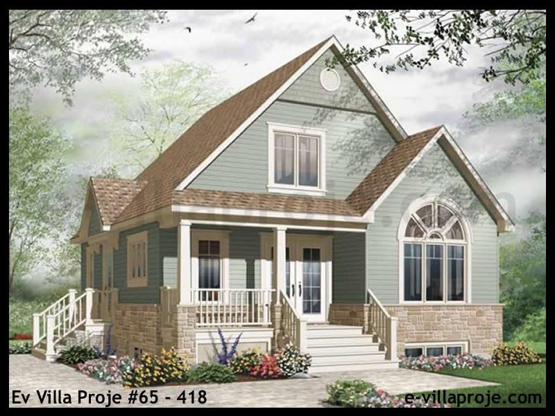 Ev Villa Proje #65 – 418, 2 katlı, 3 yatak odalı, 0 garajlı, 121 m2