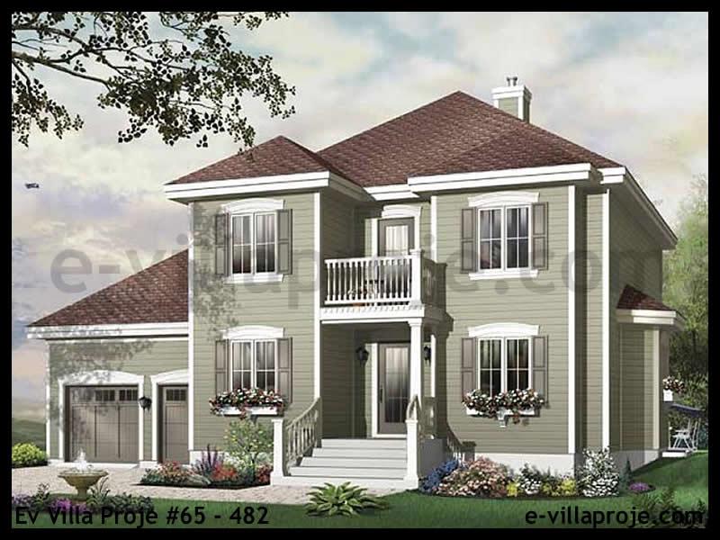Ev Villa Proje #65 – 482, 2 katlı, 3 yatak odalı, 2 garajlı, 189 m2