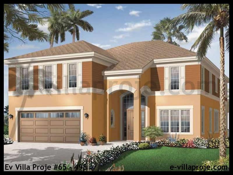 Ev Villa Proje #65 – 498, 2 katlı, 4 yatak odalı, 1 garajlı, 316 m2