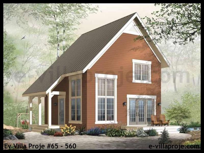 Ev Villa Proje #65 – 560, 2 katlı, 2 yatak odalı, 0 garajlı, 95 m2