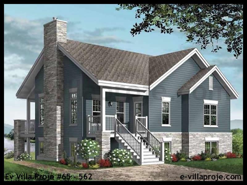 Ev Villa Proje #65 – 562, 1 katlı, 4 yatak odalı, 1 garajlı, 193 m2