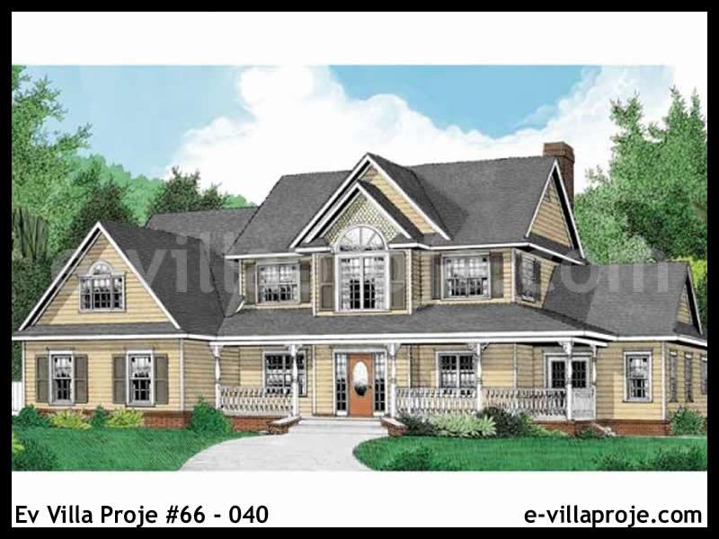 Ev Villa Proje #66 – 040, 2 katlı, 3 yatak odalı, 3 garajlı, 244 m2