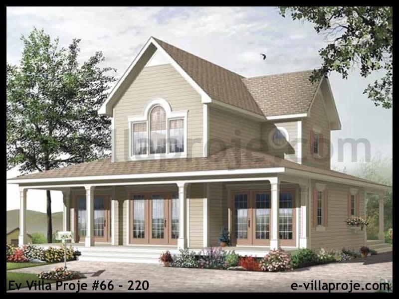 Ev Villa Proje #66 – 220, 2 katlı, 3 yatak odalı, 0 garajlı, 176 m2
