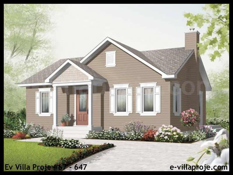 Ev Villa Proje #67 – 647, 1 katlı, 2 yatak odalı, 0 garajlı, 81 m2